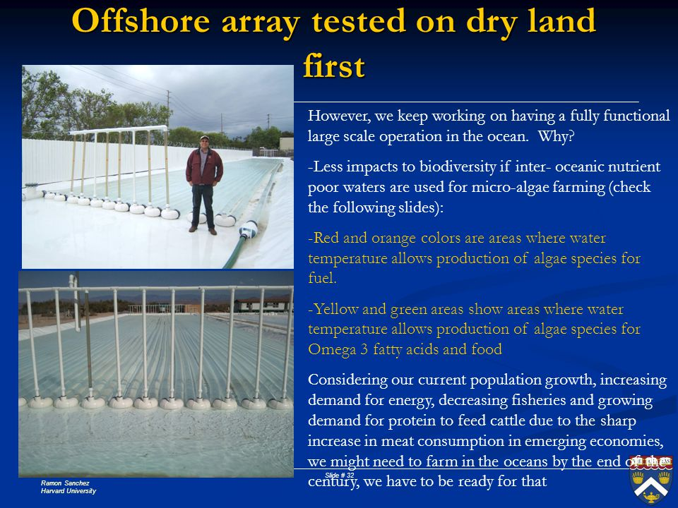 Offshore array tested on dry land first