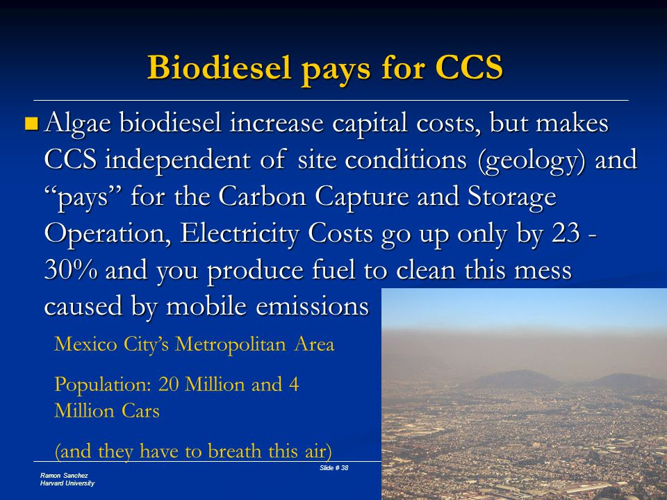 Biodiesel pays for CCS