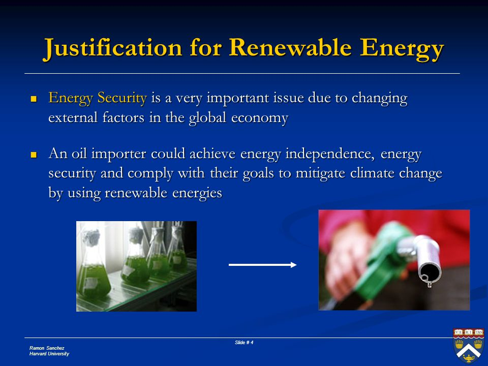 Justification for Renewable Energy