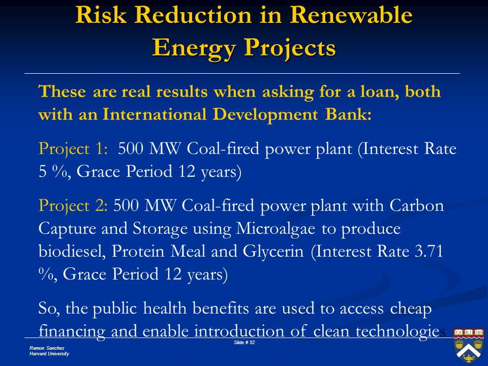 Risk Reduction in Renewable Energy Projects