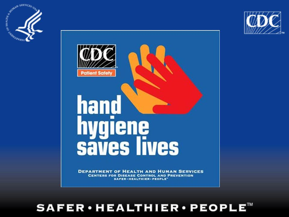 This is one of the materials distributed by CDC to improve hand hygiene in healthcare settings.