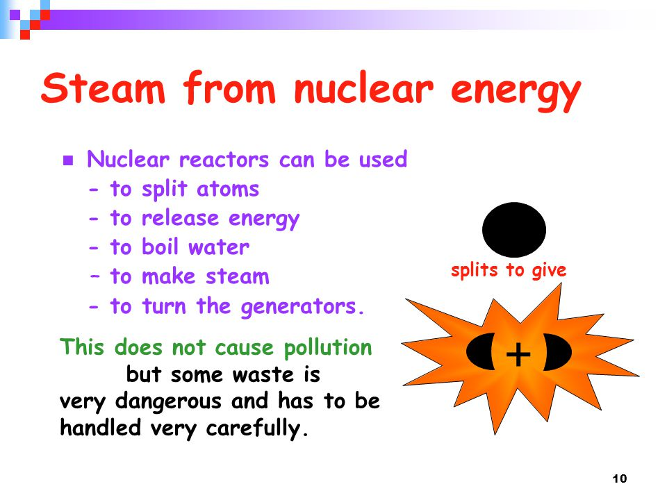 Steam from nuclear energy