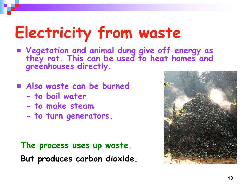 Electricity from waste