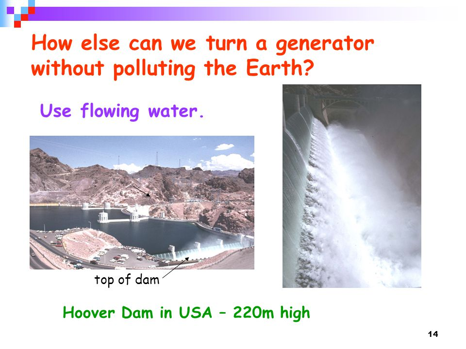 How else can we turn a generator without polluting the Earth