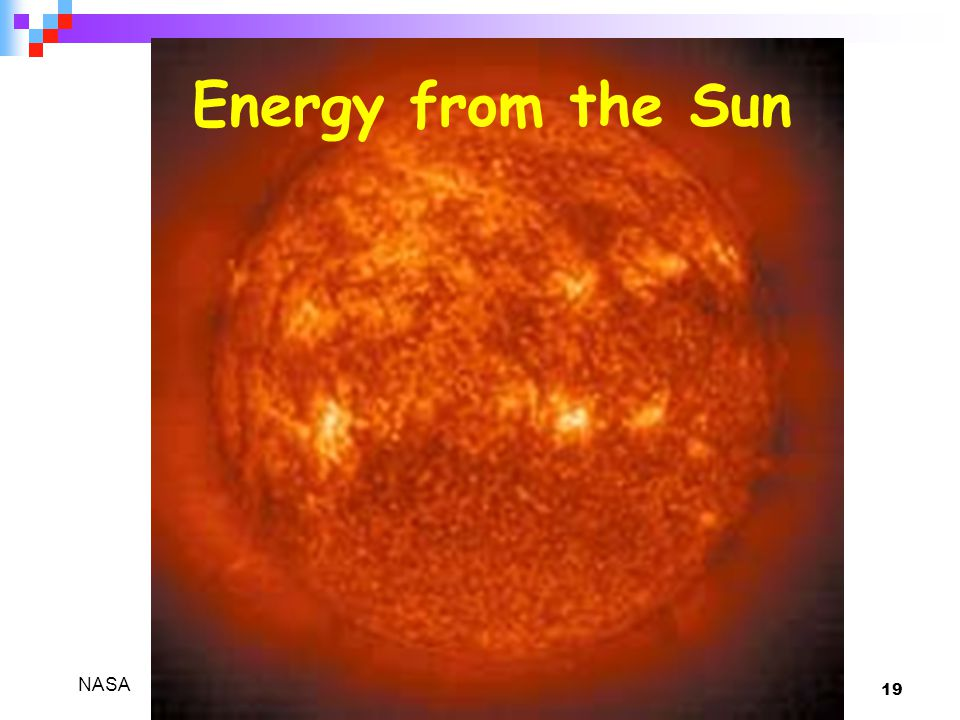 Energy from the Sun NASA