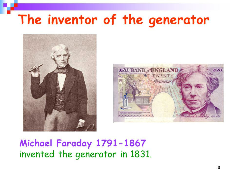 The inventor of the generator