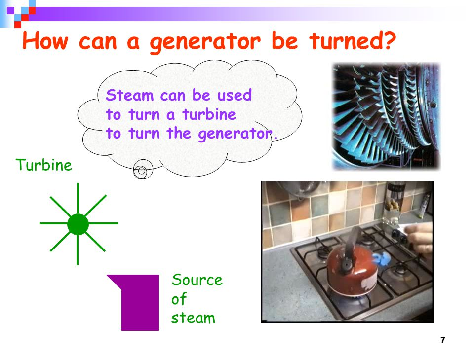 How can a generator be turned