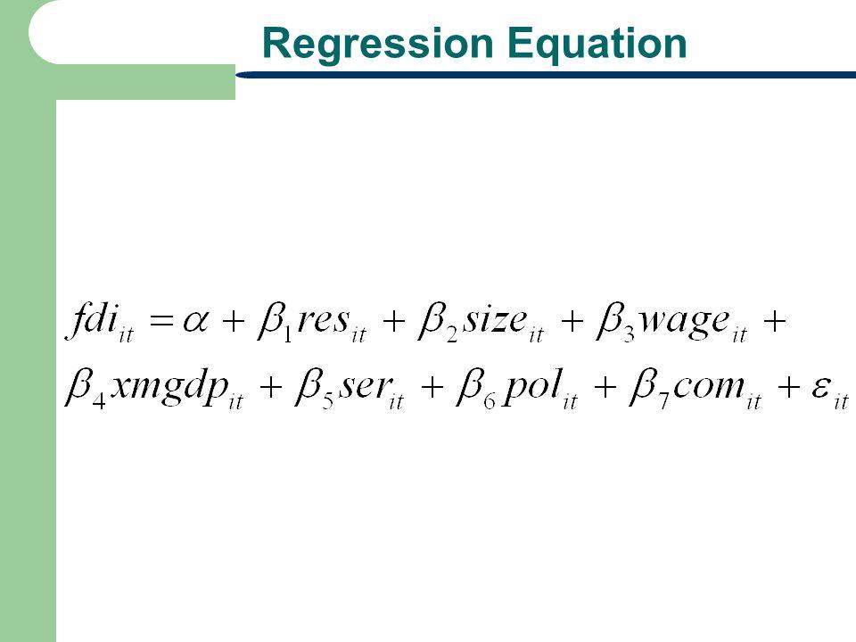 Regression Equation
