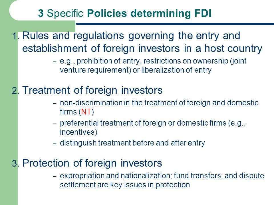 3 Specific Policies determining FDI