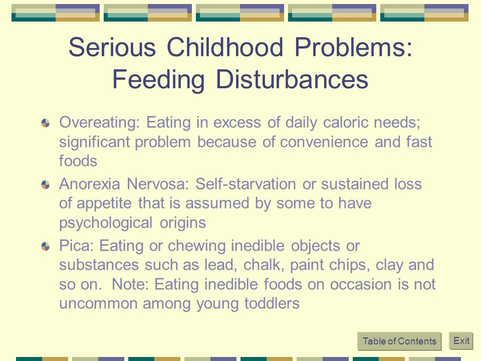 Serious Childhood Problems: Feeding Disturbances