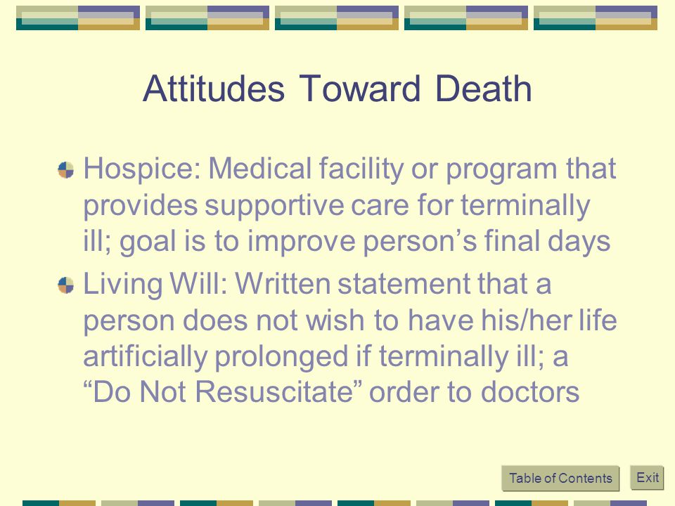 Attitudes Toward Death