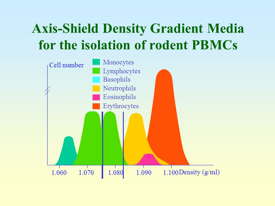Axis-Shield Density Gradient Media for the isolation of rodent PBMCs