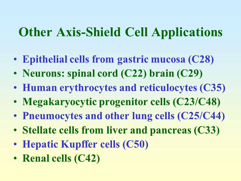 Other Axis-Shield Cell Applications