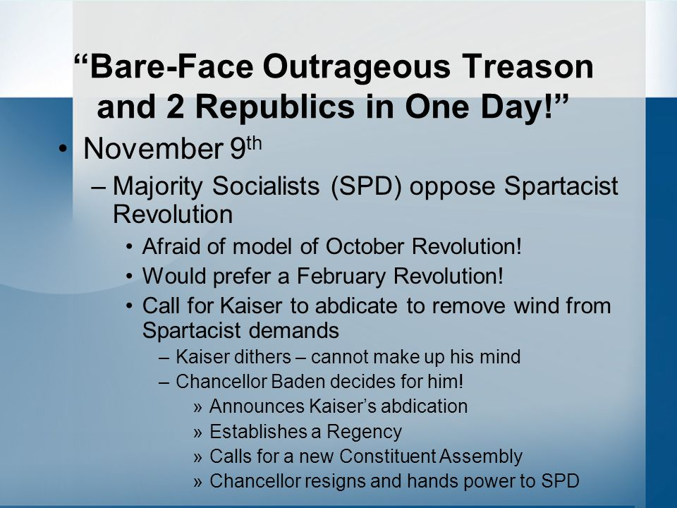 Bare-Face Outrageous Treason and 2 Republics in One Day!