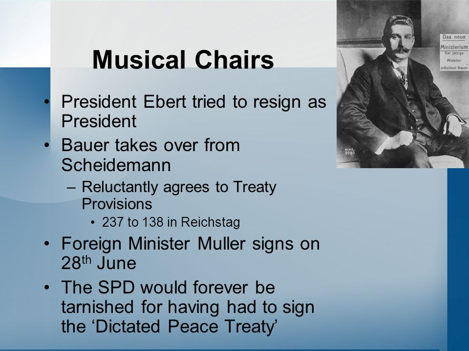 Musical Chairs President Ebert tried to resign as President