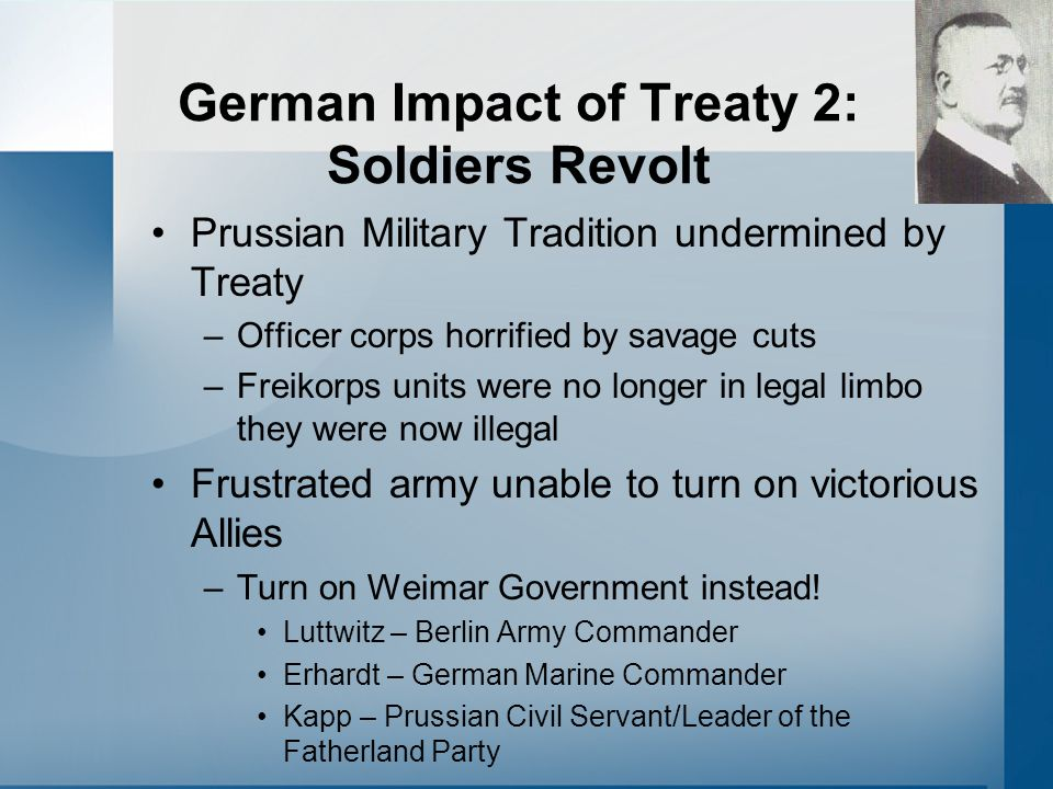 German Impact of Treaty 2: Soldiers Revolt
