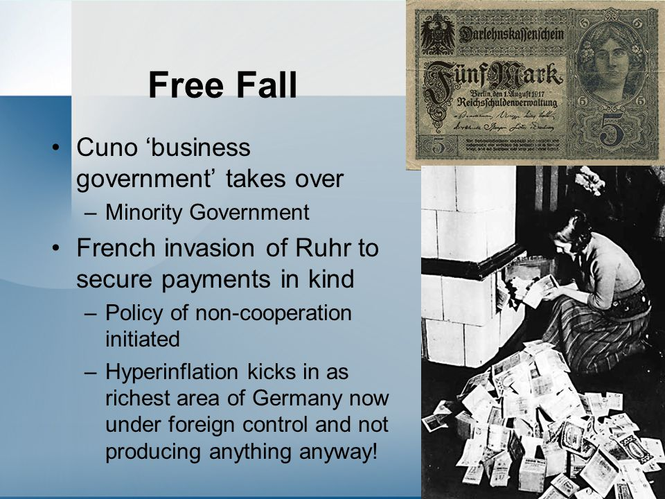 Free Fall Cuno 'business government' takes over