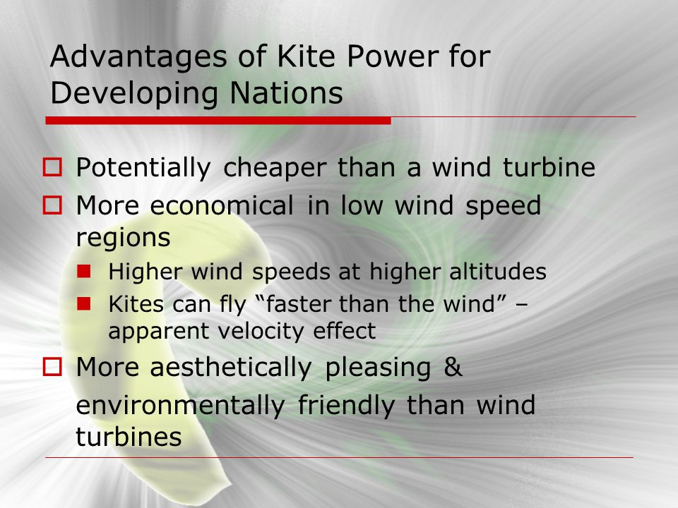 Advantages of Kite Power for Developing Nations