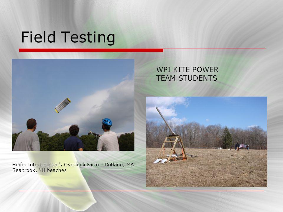 Field Testing WPI KITE POWER TEAM STUDENTS