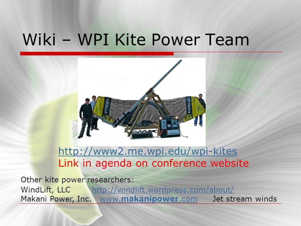 Wiki – WPI Kite Power Team