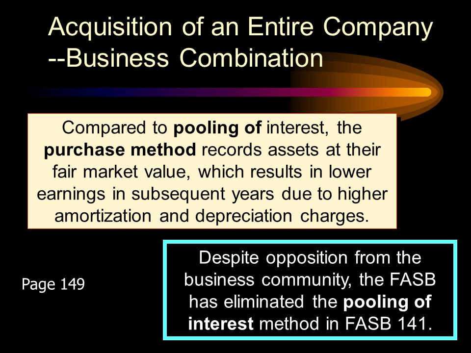 Acquisition of an Entire Company --Business Combination