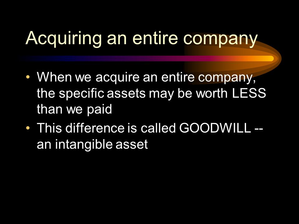 Acquiring an entire company
