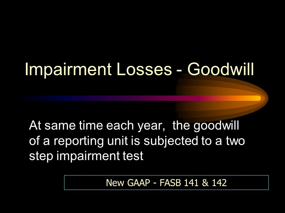 Impairment Losses - Goodwill