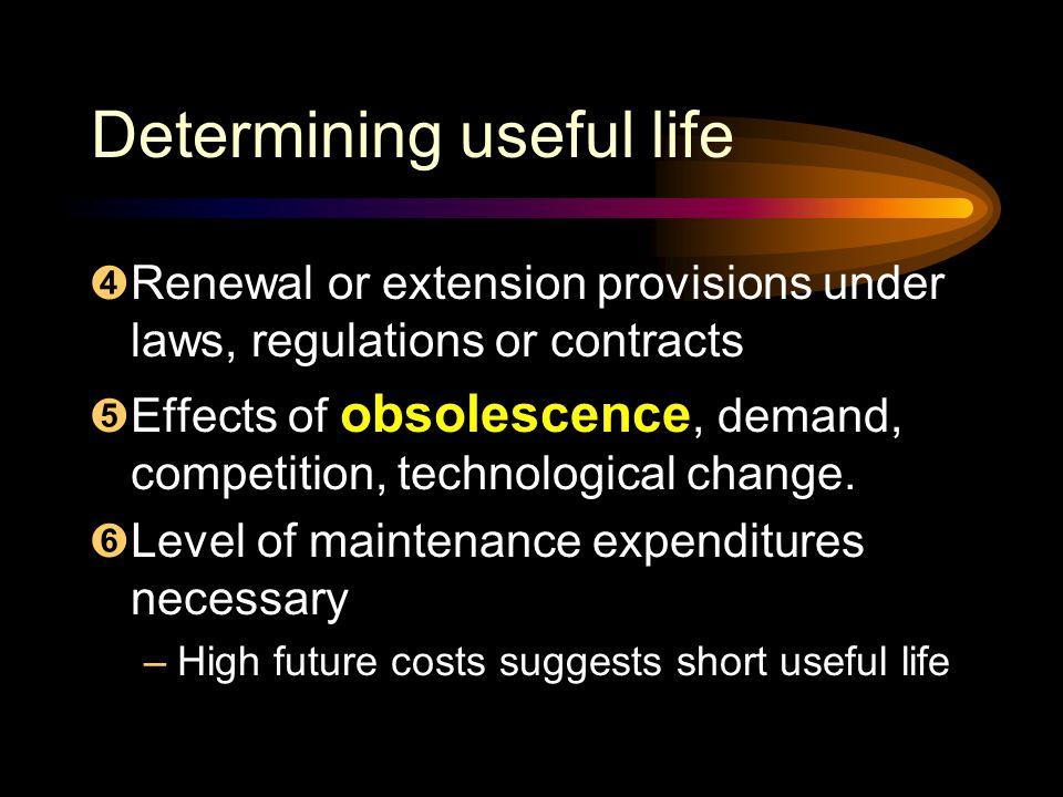 Determining useful life