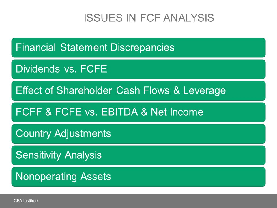 Issues in FCF Analysis Financial Statement Discrepancies