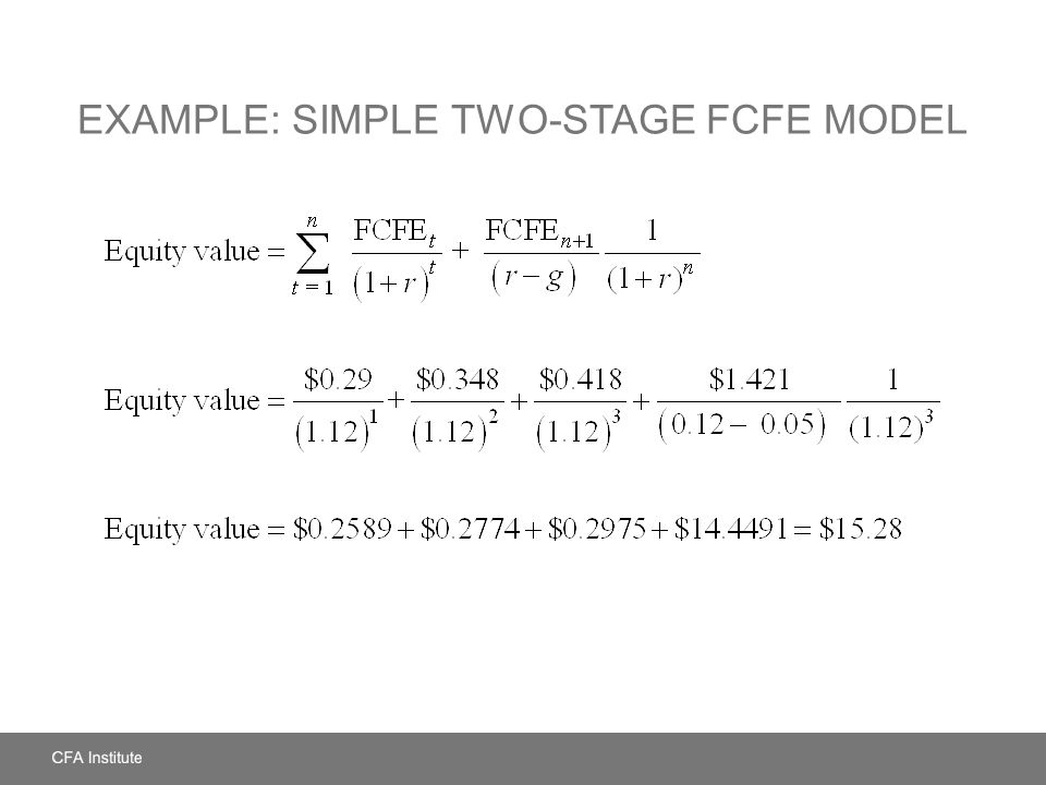 Example: Simple Two-Stage FCFE Model