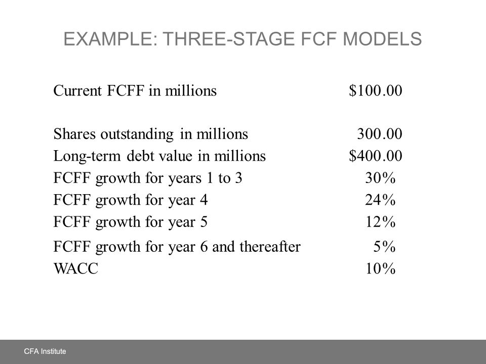 Example: Three-Stage FCF Models