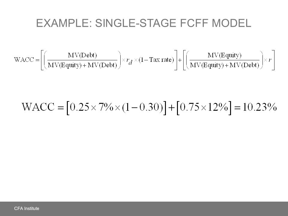 Example: Single-Stage FCFF Model