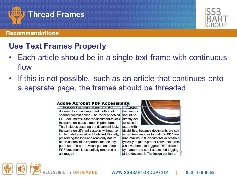 Use Text Frames Properly