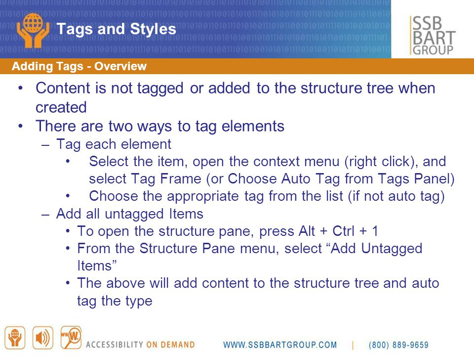 Content is not tagged or added to the structure tree when created