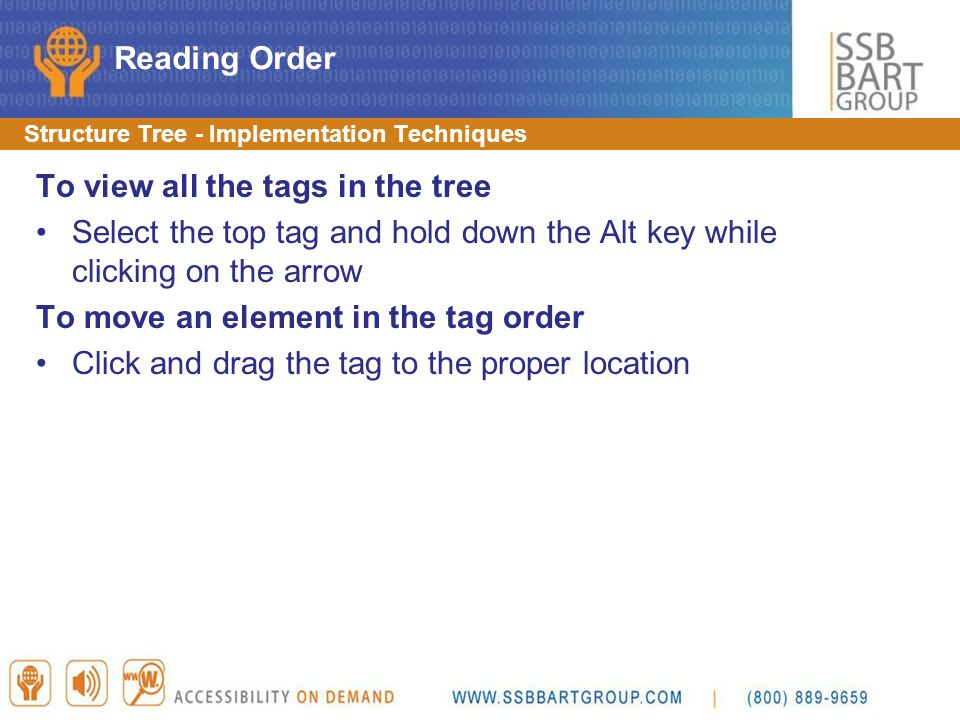 To view all the tags in the tree