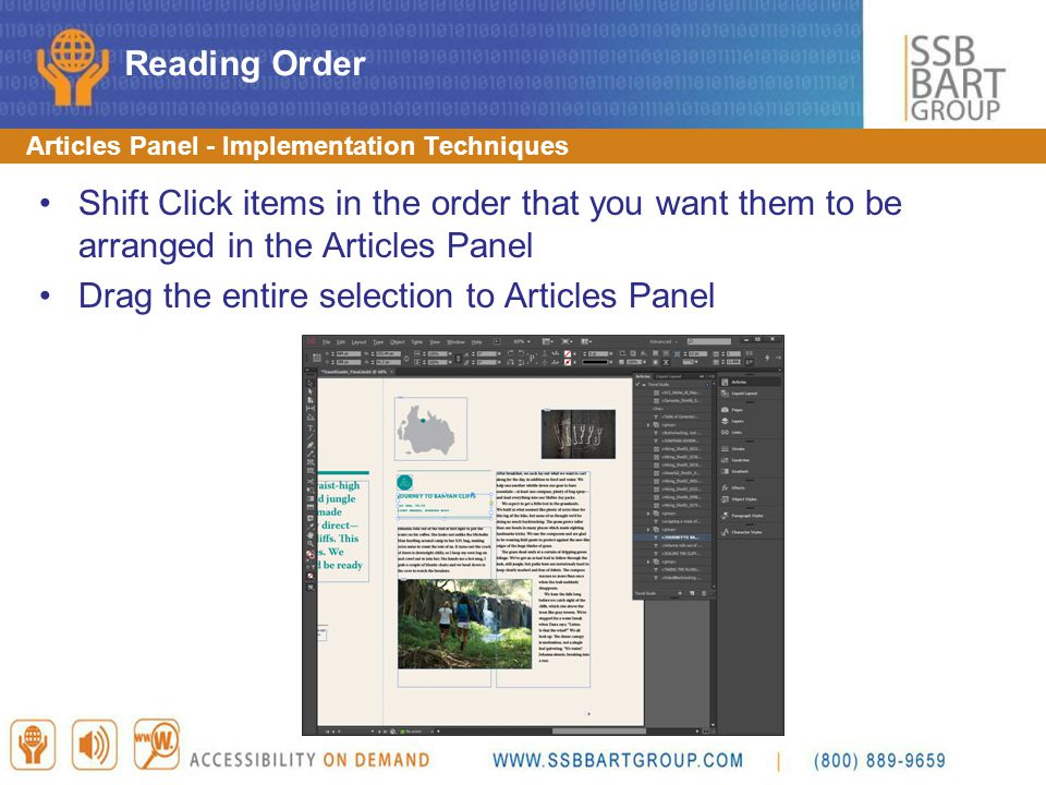 Drag the entire selection to Articles Panel