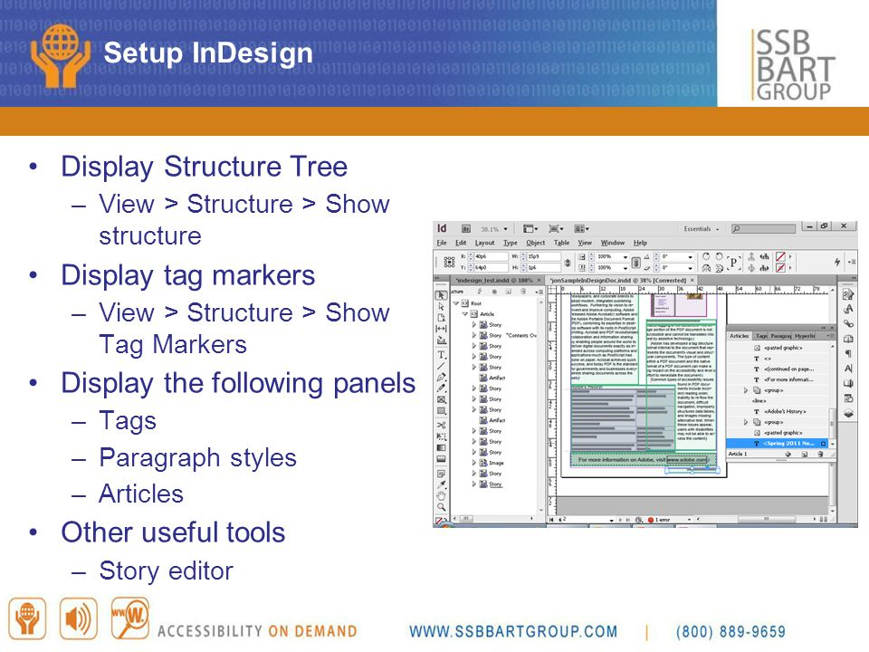 Display Structure Tree