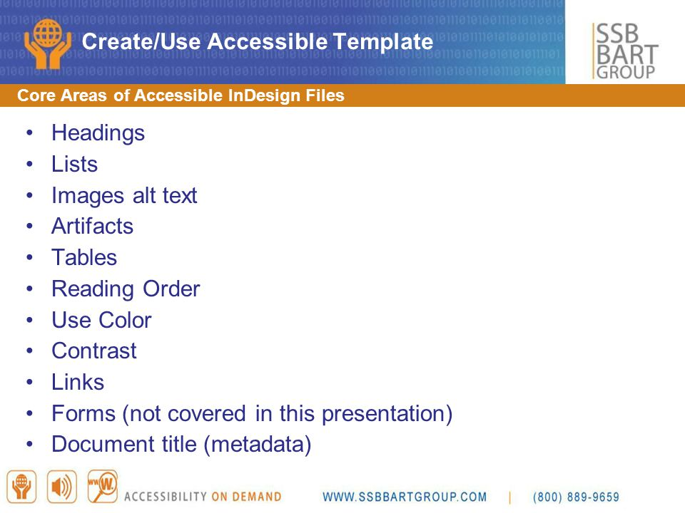 Create/Use Accessible Template