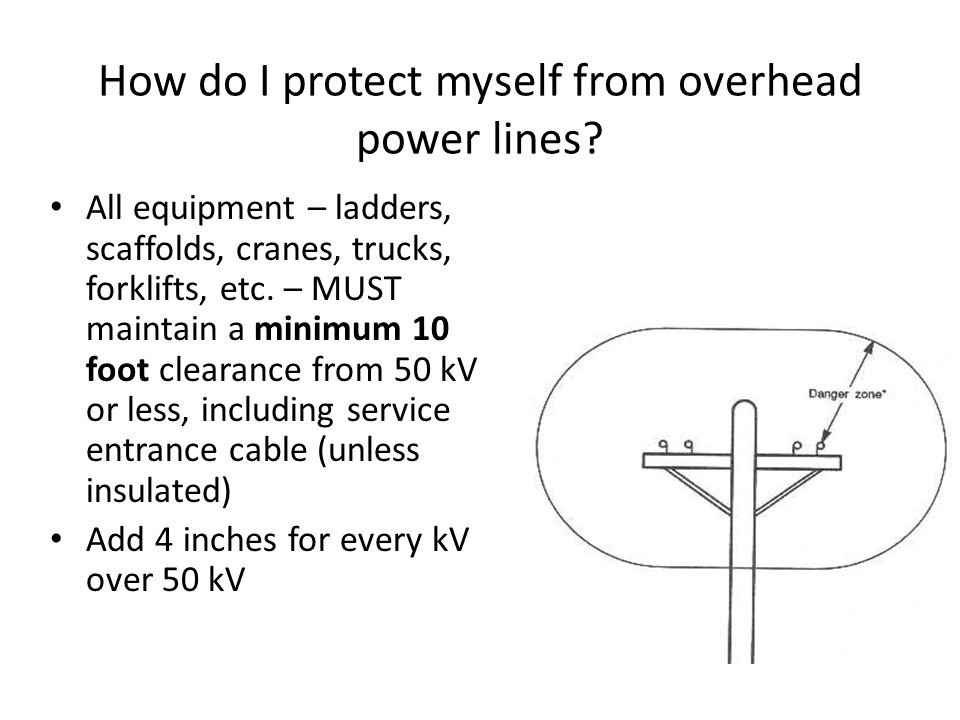 How do I protect myself from overhead power lines