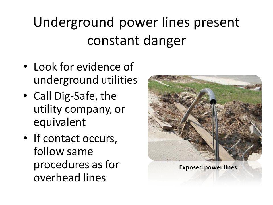 Underground power lines present constant danger