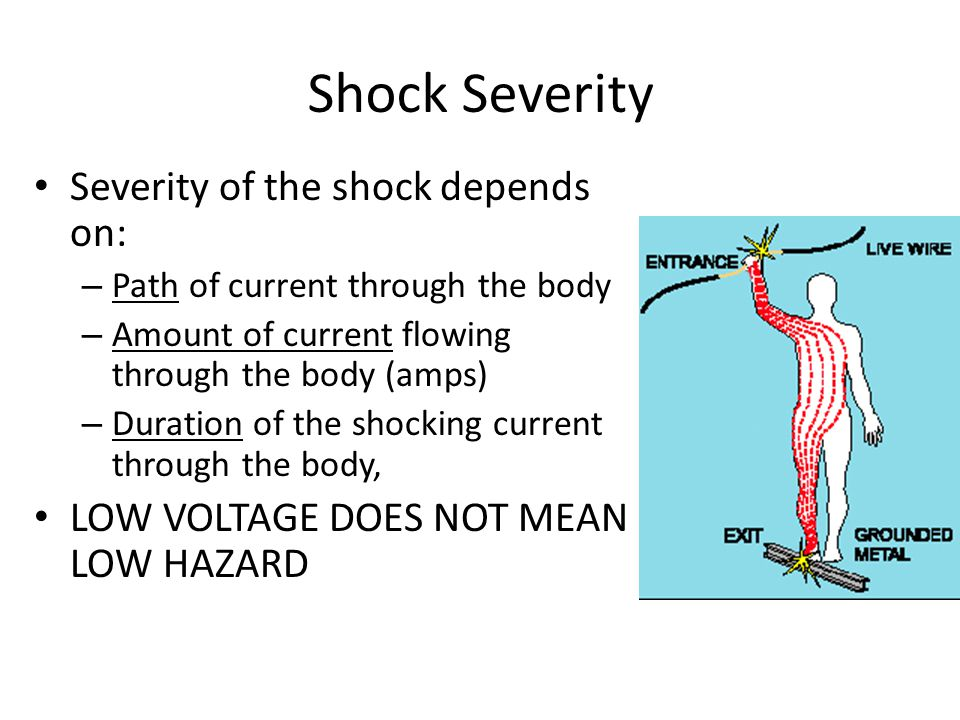 Shock Severity Severity of the shock depends on: