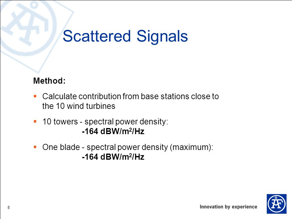 Scattered Signals Method: