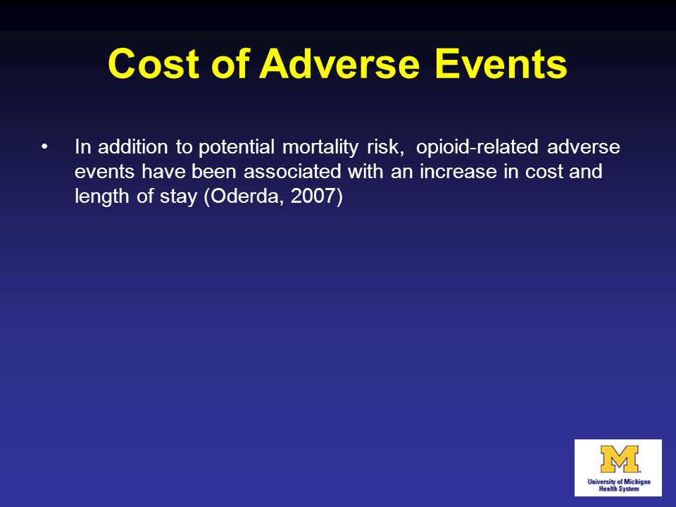 Cost of Adverse Events