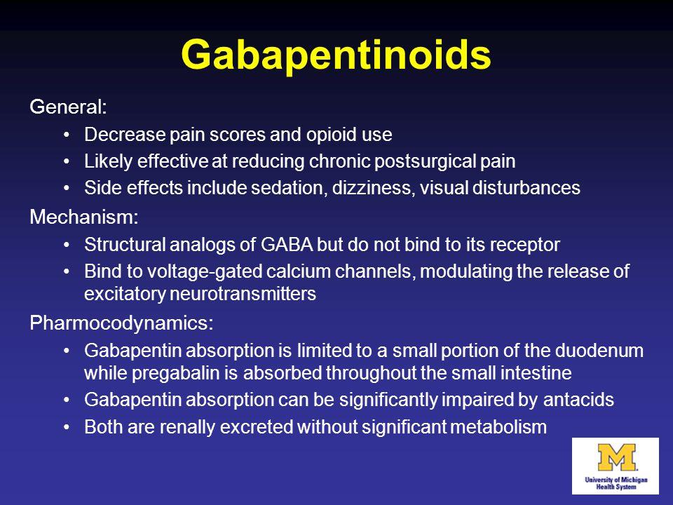 Gabapentinoids General: Mechanism: Pharmocodynamics: