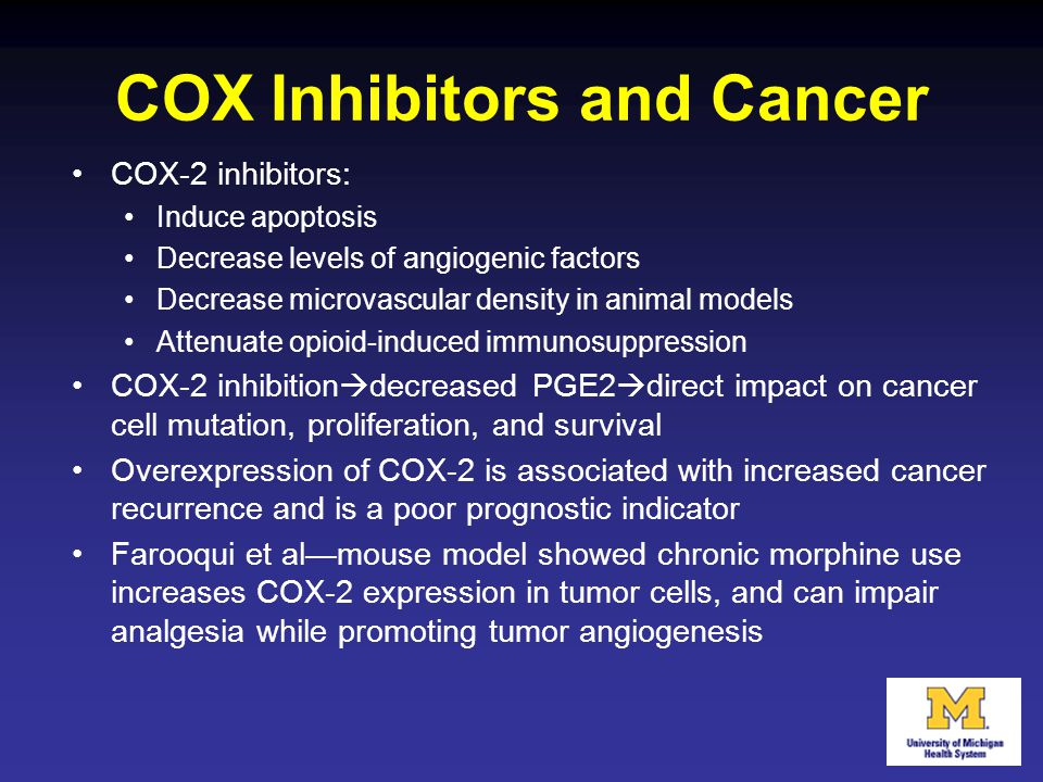 COX Inhibitors and Cancer