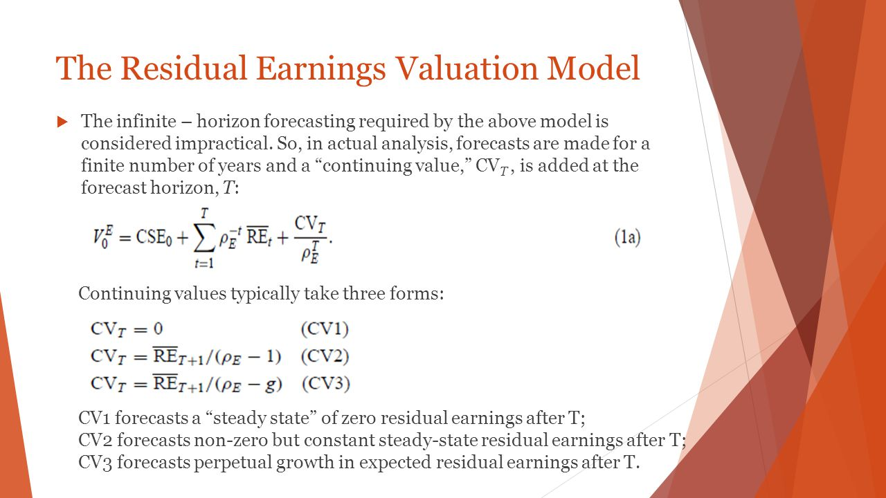 The Residual Earnings Valuation Model