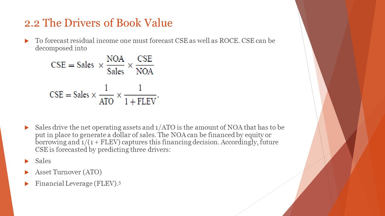2.2 The Drivers of Book Value