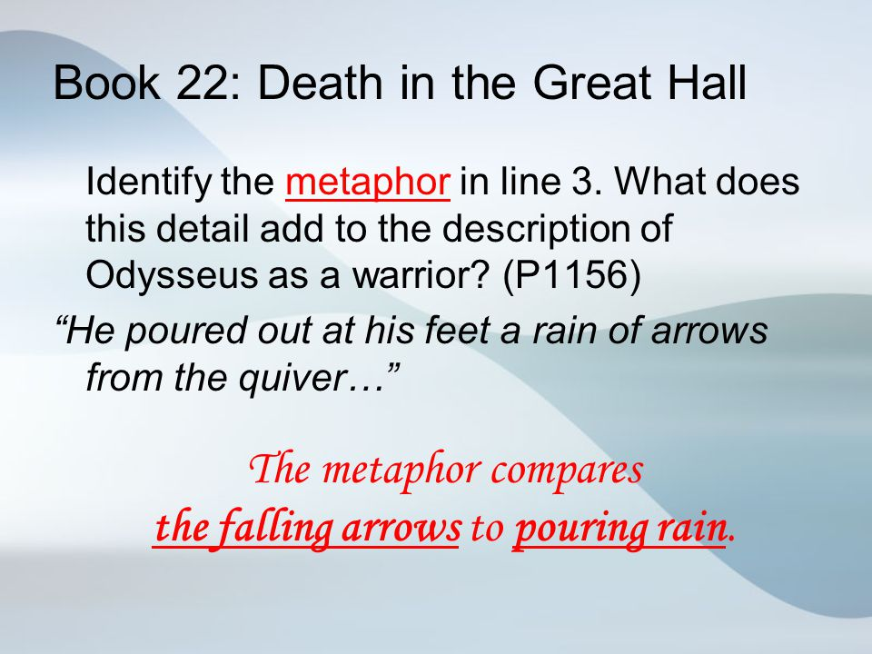 Book 22: Death in the Great Hall