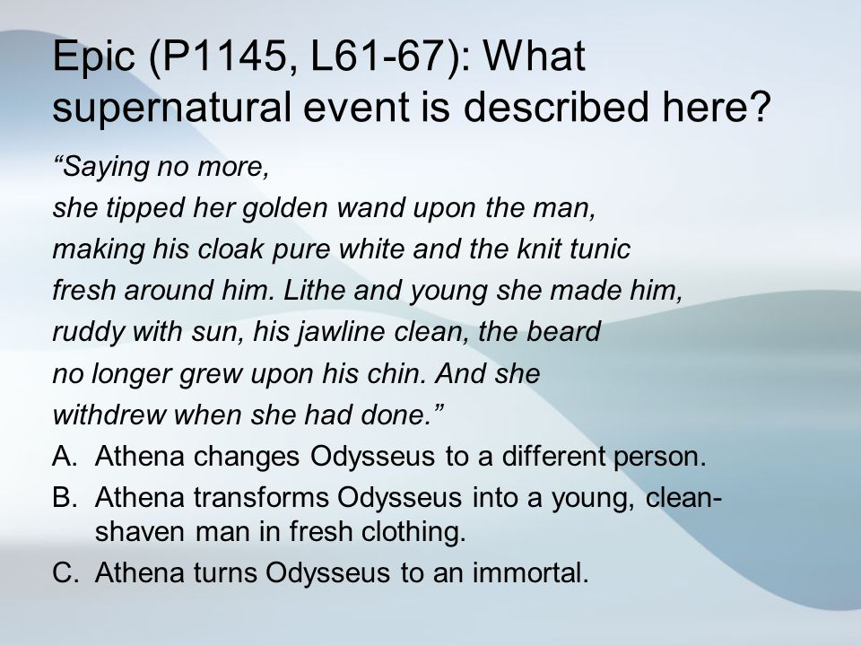 Epic (P1145, L61-67): What supernatural event is described here