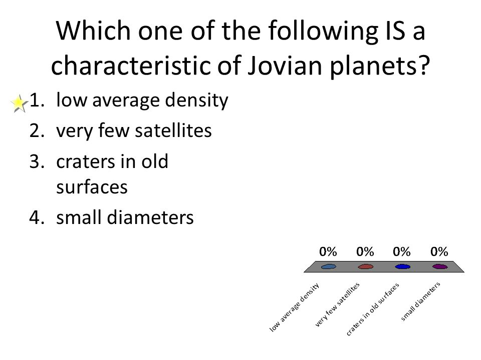 Which one of the following IS a characteristic of Jovian planets